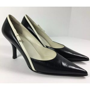 Franco Fortini Heels with Bow Detail Sz 6M